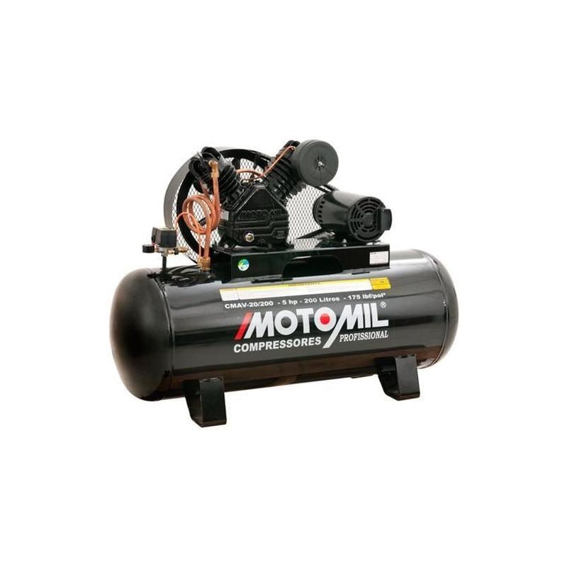Compressor Motomil CMAV-20/200 175LBS 5,0HP TRIF.220/380V