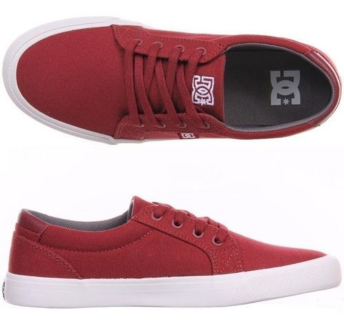 Tênis Dc - Concil - Vermelho Escuro Sola Branca! !!! Original