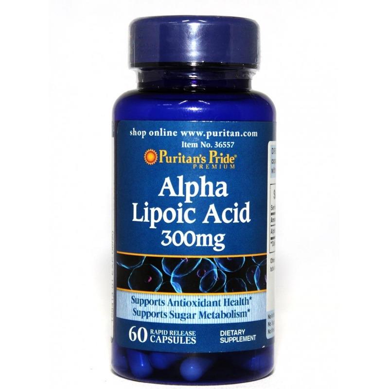 Ácido Lipóico Alfa 300 Mg 60 Cápsulas Alpha-lipoic Vegano