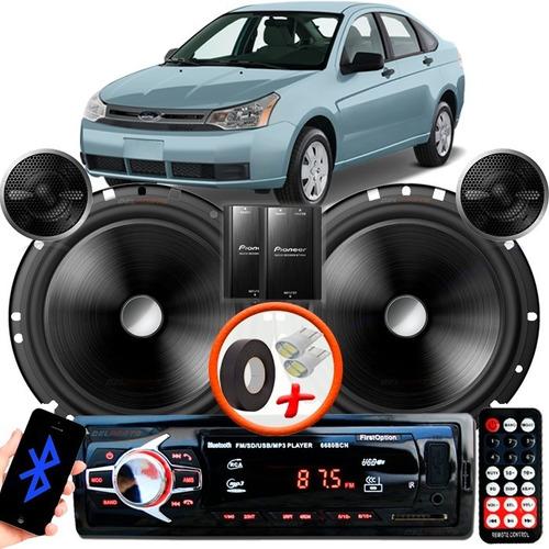 Som Carro Rádio Mp3 +2 Falante Pioneer T 6' C170 Ford Focus Original