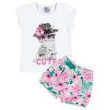 Conjunto Blusa e Short Beautiful & Cute Pulla Bulla