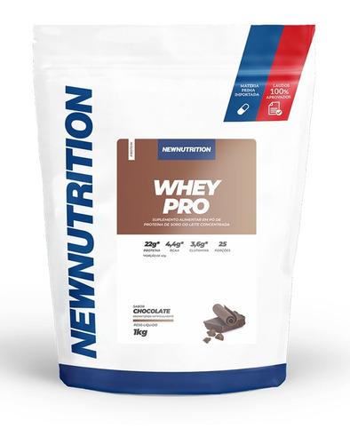 Whey Pro  60% De Proteína Chocolate 1kg Refil - Newnutrition Original