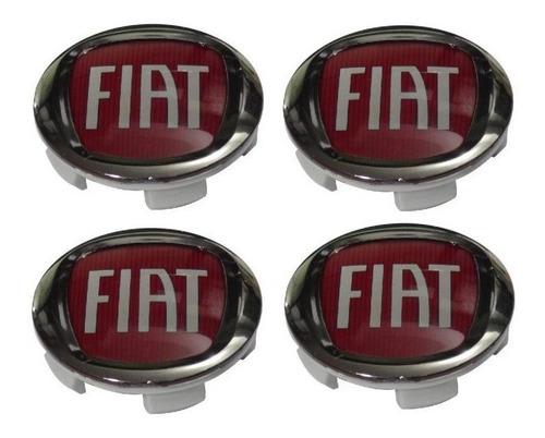 Jogo De Calota Calotinha Miolo Tampa De Roda Fiat Toro 60mm Original