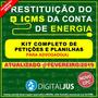 Guia Reembolso Restituição Icms Da Conta De Luz E Planilhas