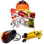 Kit Automotivo Emergência Com Macaco, Compressor E Cabos