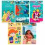 5 Livros Ler E Colorir Moana Princesas Minnie Dory Giz