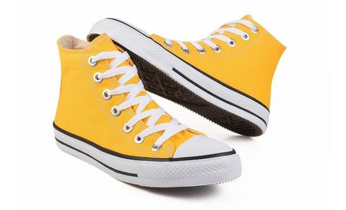 Tênis All Star Converse Cano Alto Adulto Amarelo Original