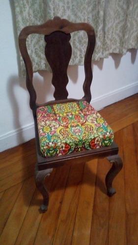 Cadeira Luís Xv - Década De 40 - Restaurada E Estofada