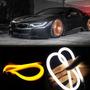 Par Fita Barra 60cm Led Flexível Lanterna C/ Seta Carro Moto