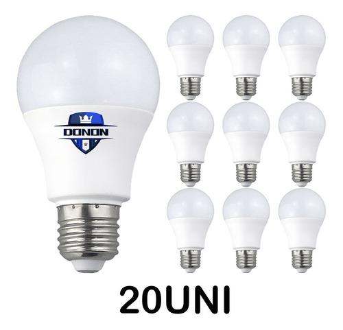 20x Lâmpada Led 9w Bulbo Soquete E27 Bivolt Casa Comércio Original