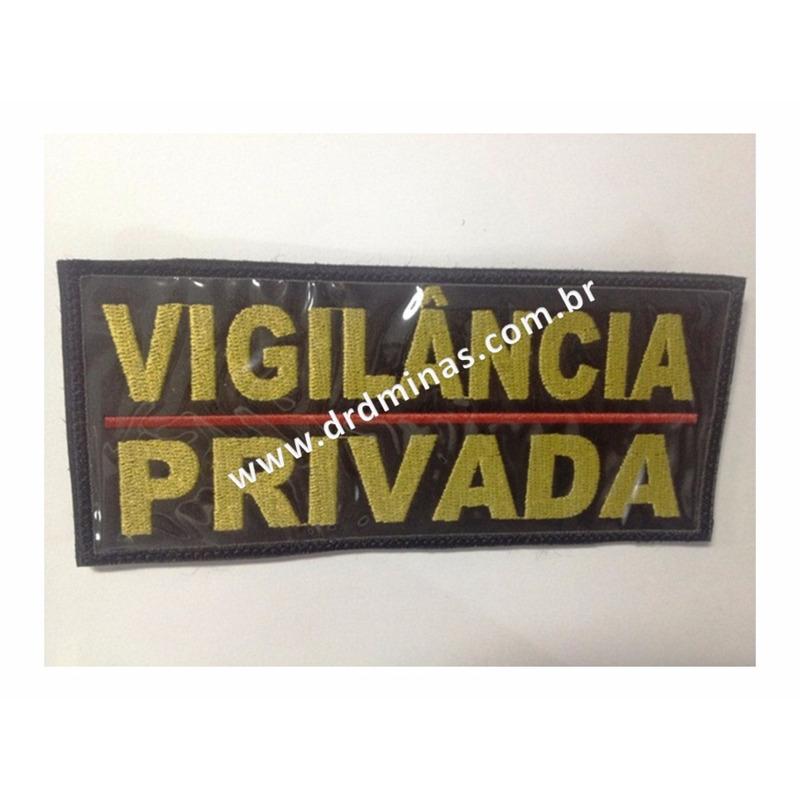 Etiqueta Bordada Vigilância Privada - 9 x 18