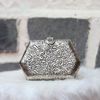Bolsa clutch prata - BLS00014