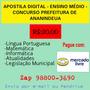 Apostila Digital Ensino Médio Prefeitura De Ananindeua
