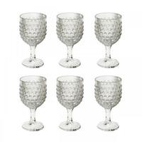 Jogo 6 Taças para Vinho De Vidro Bubble 260Ml - Lyor 4106639