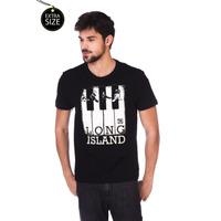 Camiseta Long Island Plus Size Preta