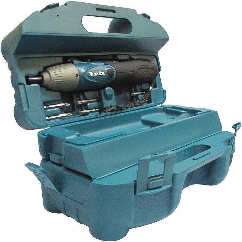 """Parafusadeira à Bateria Dobrável (4,8V) 1/4"""" C/ Maleta de acessórios - 6723DW - Makita"""