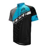 Camisa Ciclismo Mtb Asw Sense Activ Team 19 Preto/Aqua