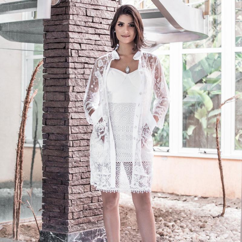 JALECO DE ALFAIATARIA DRA. ELIZABETH BLACKWELL ARABESCO REALEZA - JR000110