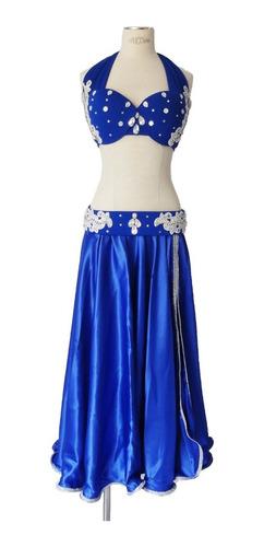 Figurino Azul Royal Dança Do Ventre Original