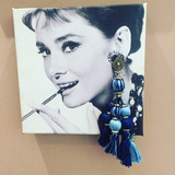 Maxi Brinco Etnic Tassels Azul