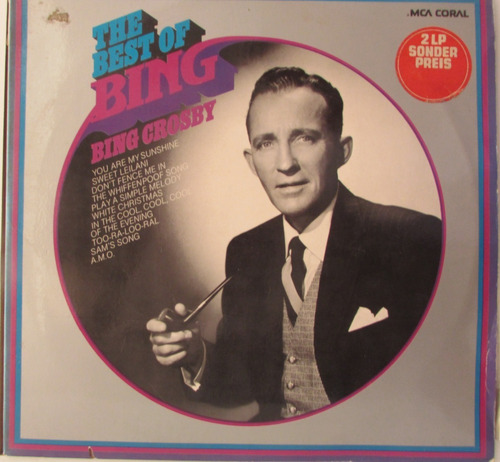 Lp Bing Crosby -the Best Of Bing Crosby - Album Duplo Original