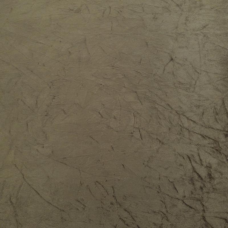 Tecido suede amassado chocolate Larg. 1,40 m