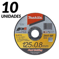 Kit - 10 Discos de Corte Abrasivo 'Fast Cutting' 115 x 0.8 x 22,23mm - B-45727-25 - Makita