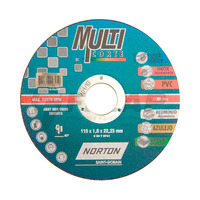 Disco de Corte Multicorte Norton 115 x 1,0 x 22,23