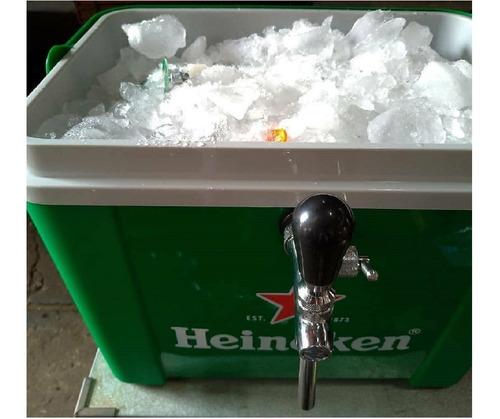 Chopeira Heineken Caixa Termica Isopor Gelo Para 2 Barril 5l Original