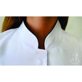 Jaleco fem. com detalhes