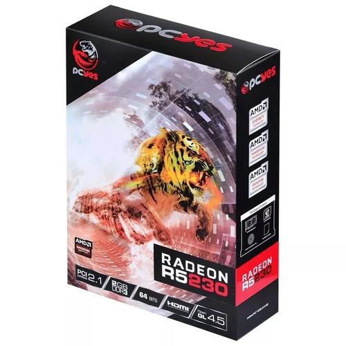 Placa De Video Radeon Pcyes R5 230 Ddr3 2gb Low Profile :::: Original