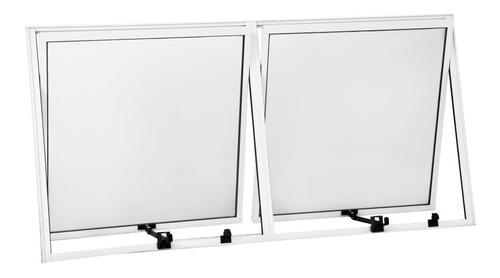 Vitro Maxim-ar 2 Seções 0,60x1,20 Alumínio Branco Original