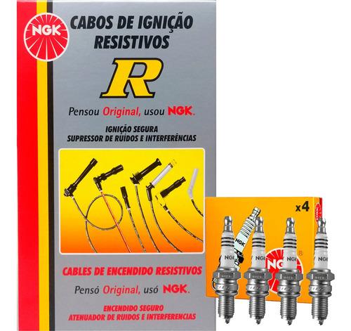Kit Cabos + Velas Ngk Vw Passat Variant 2.0 Gasolina 94/97 Original