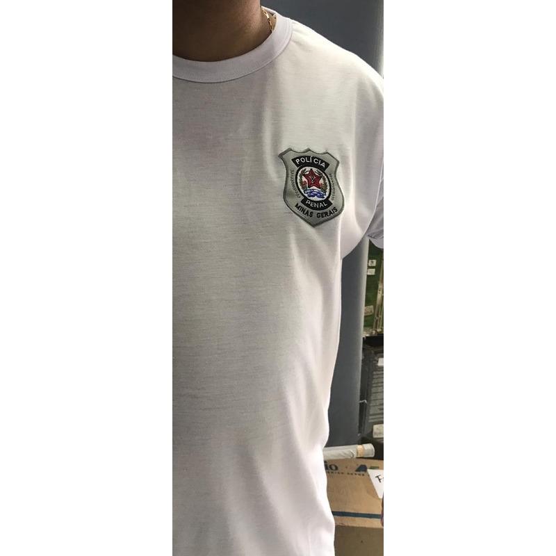 Camisa Polícia Penal - DEPEN - Modelo 7 - Preta  Bordada
