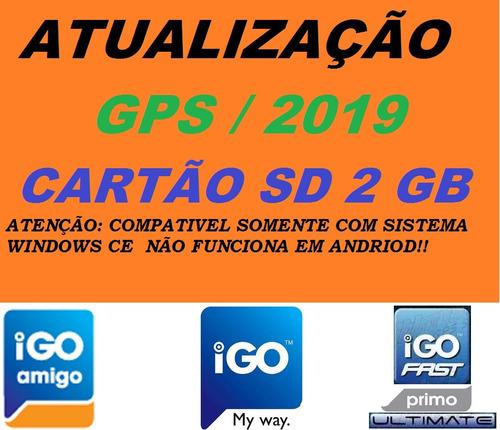 Atualização Gps 2019 Cartão Sd 2gb 1 Navegador Igo Original