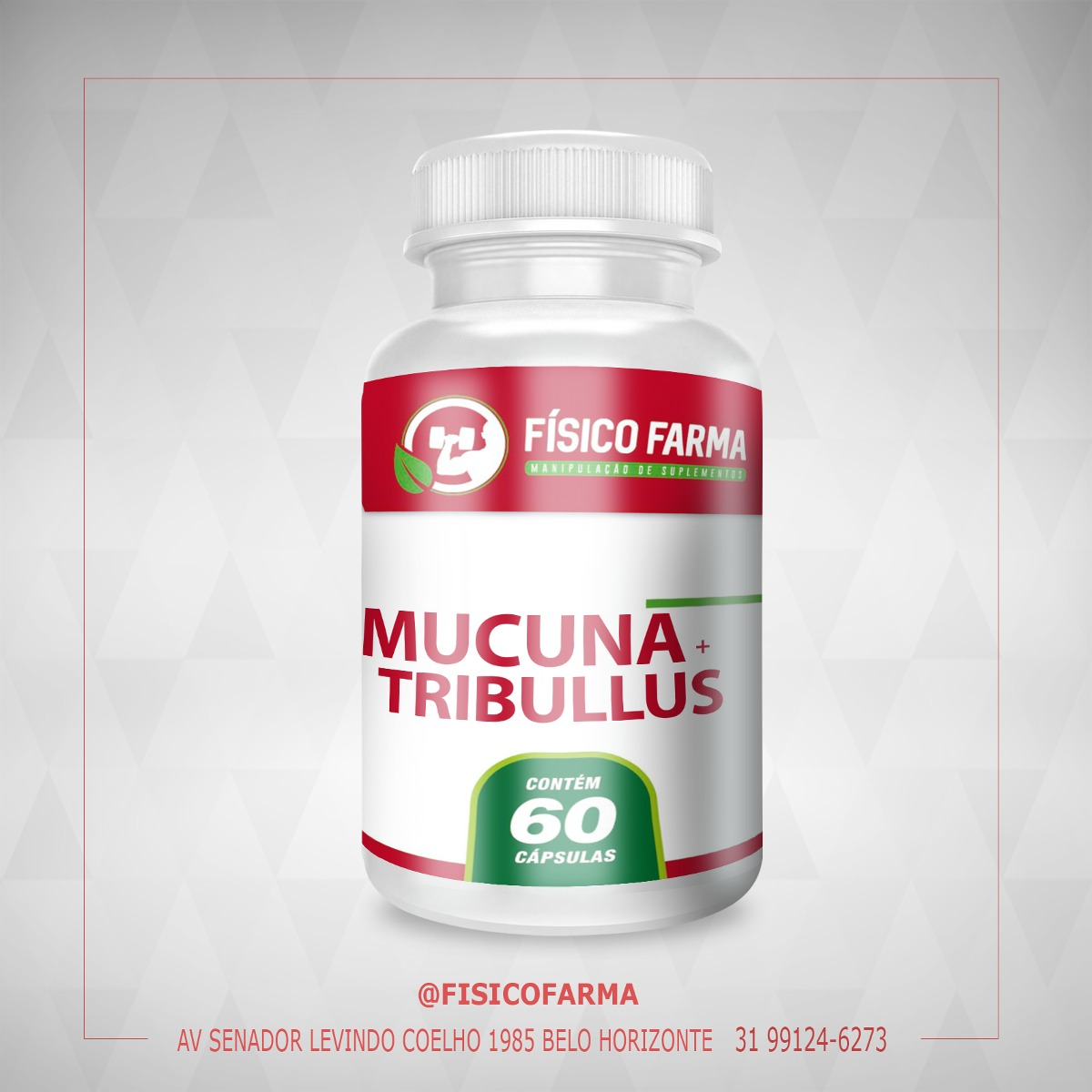 Mucuna 200mg + Tribulus Terrestris 250mg 60cáps