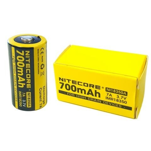 Bateria Recarregavel 18350 Nitecore Original Cr123a Vaper Ni