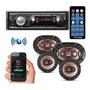 Kit Som Automotivo Bluetooth Auto Falante Bravox 6 6x9 69