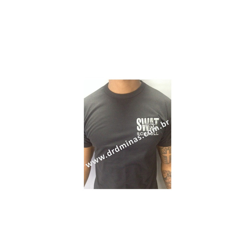 Camisa Preta SWAT - Bordada
