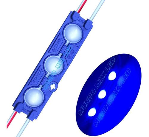 300pçs Módulo Led 7025 12v 1,7w 3-led Azul Royal Lente 160º Original