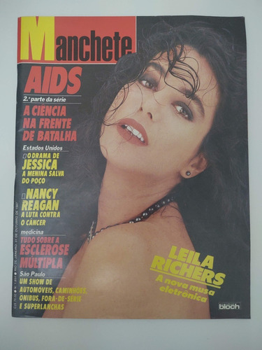 Revista Manchete 1.854 Leila Richards Outubro 1987 Perfeita Original