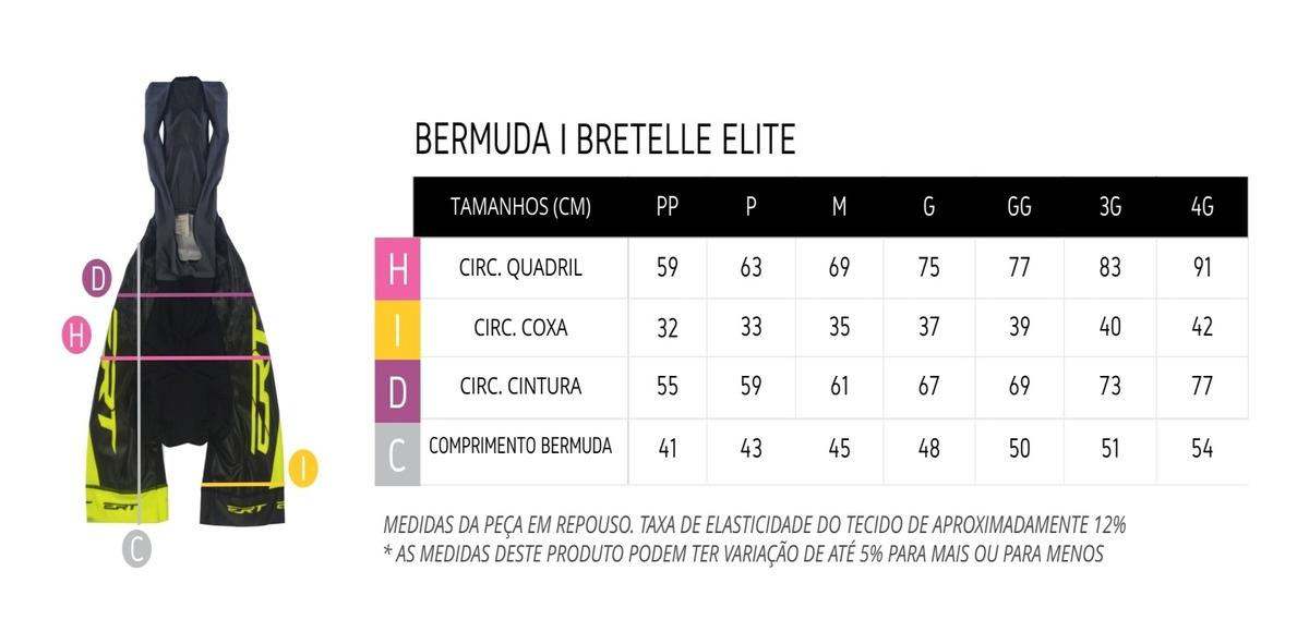 Bermuda Ciclismo Mtb Ert Elite Forro Gel Racing Masculino