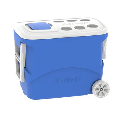 Caixa Térmica Soprano Tropical com rodas 50L Azul