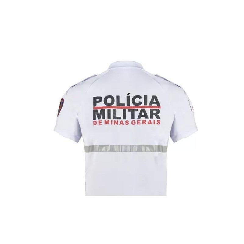 Camiseta Branca Bike Patrulha B8 da PMMG