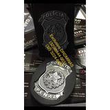 Brasao 3D - Distintivo - Cordao Policia PENAL - BLACK