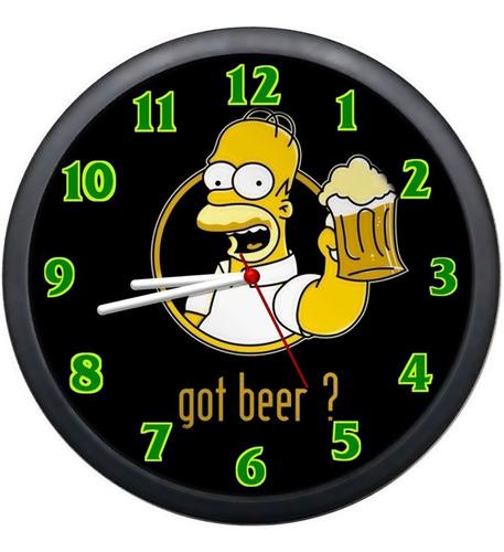 Relógio Parede Homer Simpson Duff Cozinha Retrô Desenho Original
