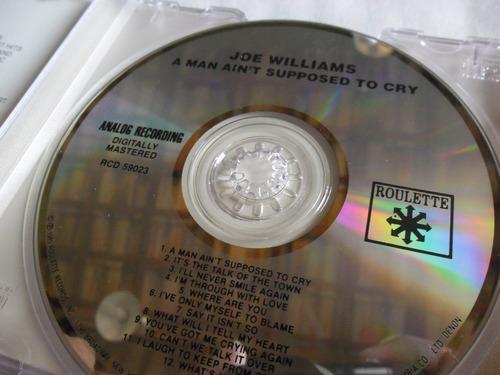 Cd Joe Willians - Reembalado  Estojo E Plástico Novos Original