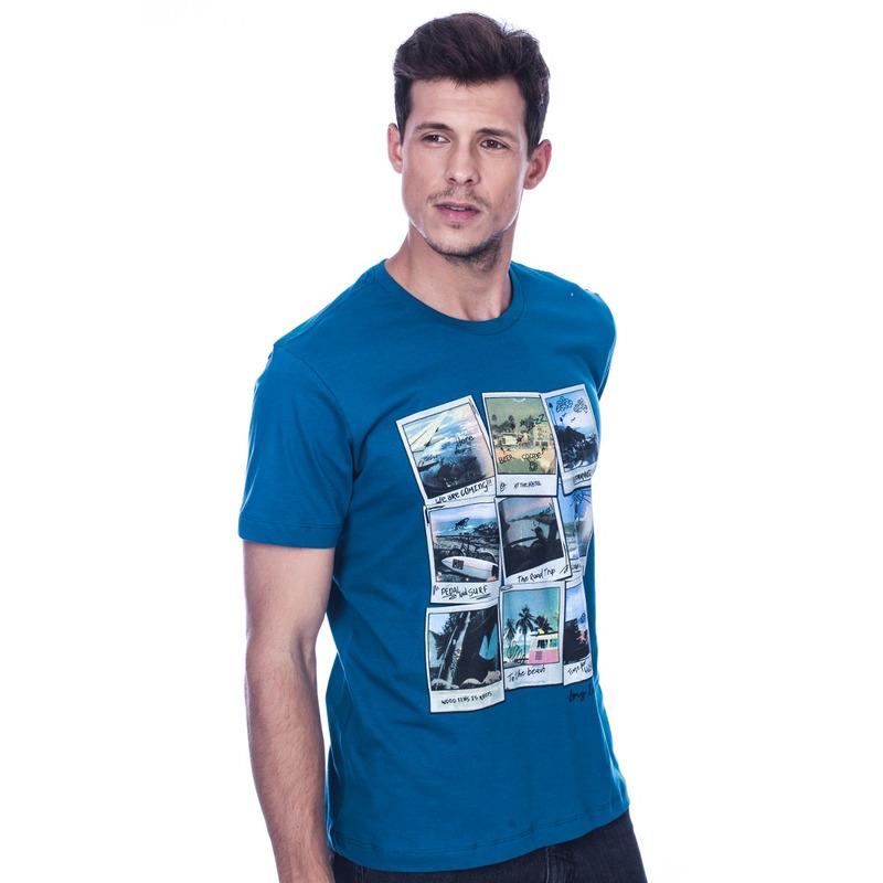Camiseta Long Island Polaroids Azul