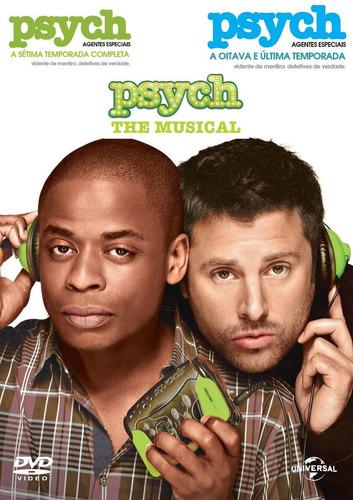 Dvds Psych - Agentes Especiais: Temporadas 7, 8 E Musical