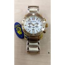 9608f8f025f Comprar Relógio Original Atlantis Dourado Luxo Modelo Bulgari Fret G